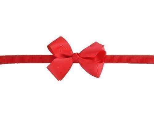 Style Nuvo - Serre-Tête Ruban Gros Grain Avec Noeud Bébé Fille - Taille unique, Rouge