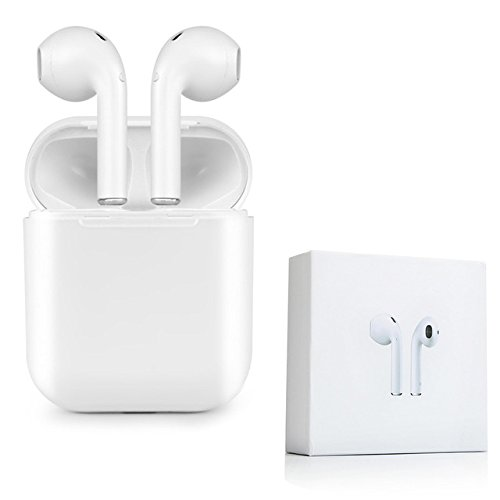 DOJA Barcelona | Cuffie Bluetooth e caso di ricarica, Auricolari Bluetooth Wireless Senza Fili | NUOVO MODELLO I9 Migliore qualità del suono e durata della batteria | Per: iPhone, iPad, Samsung, Xiaomi, huawei, LG