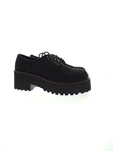 Donna di Citt�� Rising Nero Effetto Trapuntato Sneakers con Borchie - 36 qy5qHRQey