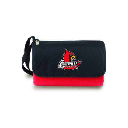 Blank Damen Athletic Polyester (NCAA Louisville Cardinals Outdoor Picknick Decke Tote, Rot)