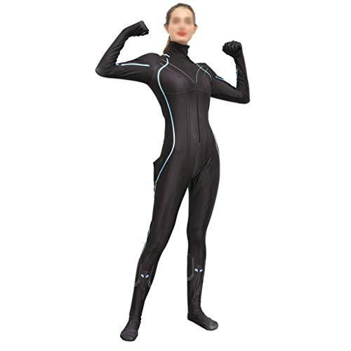 NDHSH Schwarze Witwe Rächer Kostüm Kostüm Womens Jumpsuit Outfit Halloween Abschlussball Party Weihnachten Thema Parteien Geschenk,Black-M