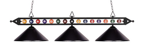 Elk 190-1-Bk-M Designer Classics 3-Light Billiard Light, 14-Inch, Matte Black With Metal Shades by Elk (Designer 3 Light Classics)