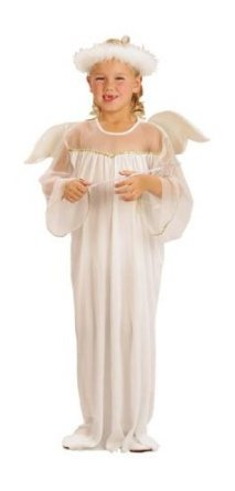 Angels Fancy Dress (Girls Fancy Dress Costume Angel - Age 6-9 years 120-130cm Christmas Panto)