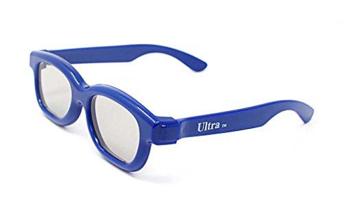 Ultra 3 Paare von Passiv-3D-Brillen für Kinder in Dunkel Blau für Kinder Polorized Eyewear Universal für Passivkino und Projektoren wie RealD Toshiba LG Sony TVs von Sony - Universal-projektor-3d-brille