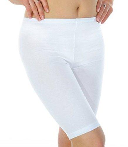 31WxL83VnCL - elegance1234 New Women's Stretchy Cotton Lycra Over-Knee Short Active Leggings (Large UK14 (40), White)