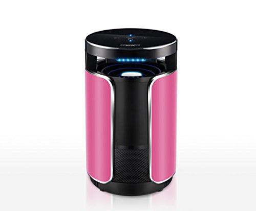 Fliegende Killer LED-Ray Bionic Mückenschutz Mückenschutz 35-37 ° Somatosensorische Heizung Rauschunterdrückung Smart Control Keine Chemikalien Insekt Killer 2M Netzkabel,Pink (Rauschunterdrückung Spray)