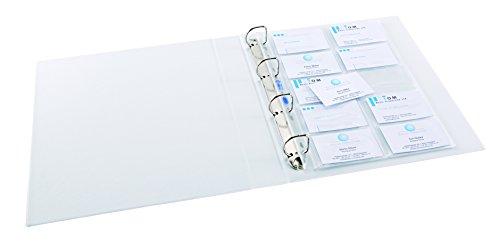 ELBA 100460994 Prospekthüllen für 20 Visitenkarten 10 Stück für DIN A4 0,09 mm links offen glasklar Universallochung PP-Kunststoff Klarsichtfolie Plastikhülle Klarsichthülle ideal für Ordner Ringbücher und Hefter