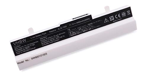 vhbw Akku für Asus Eee PC 1001/1005 / 1101 / R101 / R150 - Serie wie 1005P, 1005HA, R101D, R105D, 1001PXD Notebook Laptop - (Li-Ion, 4400mAh, 10.8V) (1001pxd Eee Pc)