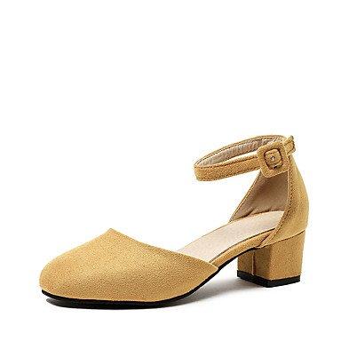 delle donne sandali estivi D & # 039; Orsay & amp;Due pezzi in similpelle partito & amp nozze;Abito da sera tacco grosso con fibbia Hollo US6 / EU36 / UK4 / CN36