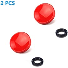 LXH 2 PCS Pulsante di rilascio dell'otturatore morbido concavo rosso per fotocamera con attacco a scatto come Fuji Fujifilm X100T / X100F / X100S / X-E2 / X-E2S / XPRO-1 / X-PRO2 / X-T10 / X-T20 / X10 / X20 / X30
