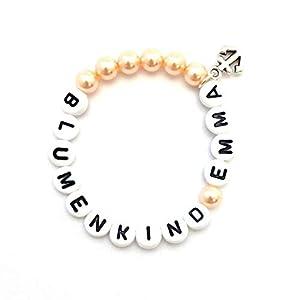 Blumenmädchen Armband Anker Hochzeit personalisiert