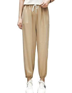 Dexinx Señoras Elegantes Transpirable Pantalones con Encanto de Verano al Aire Libre Sólidos Pantalones de Color...