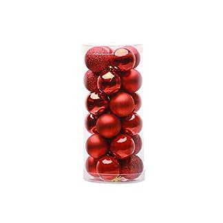 fghfhfgjdfj 24 UNIDS 4 cm 6 cm 8 cm Moderno Árbol de Navidad Brillante Adornos de Bolas de Boda Colgante Adorno Decoración de Navidad Suministros