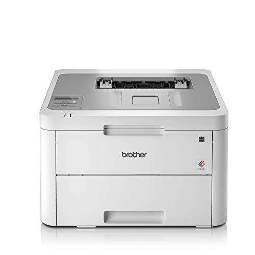 Brother hll3210cwyy1 stampante a colori led, 18 ppm, wi-fi, usb 2.0 hi-speed, cassetto carta 250 fogli, display lcd, inbox toner da circa 1.000 pagine per colore