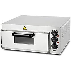 vertes Four à Pizza Electrique Professionnel (2000 Watt, régulation de température 0°C à 350°C, contrôle séparé de la température et de la Chaleur Croissante ou décroissante, minuterie de 30 Minutes)