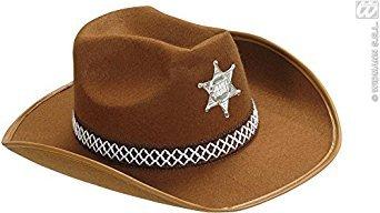 WIDMANN S.R.L., Sheriff Hat Brown Felt (Cowboy Themen Kostüm Ideen)