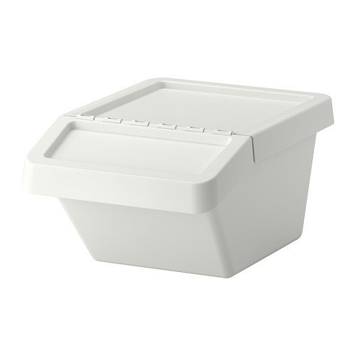 IKEA SORTERA - Waste sorting bin with lid white - 37 l