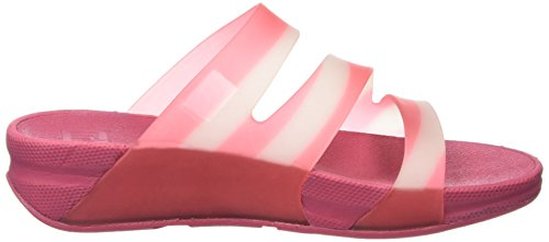 FitFlop Superjelly Twist With Stripe, Sandales  Bout ouvert femme Pink (Bubblegum)
