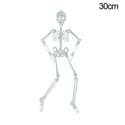 Yimosecoxiang Schädel mit Schädel, schön und lustig, für Partys, Halloween, Requisite, Plastik, Zufällige Farbauswahl, 150 cm