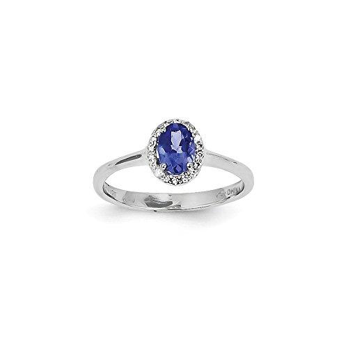 Verlobungsring 14 Karat (585) Weißgold Tansanit Diamant 0,62 Karat (Diamant-verlobungsringe, Ein Akzent)