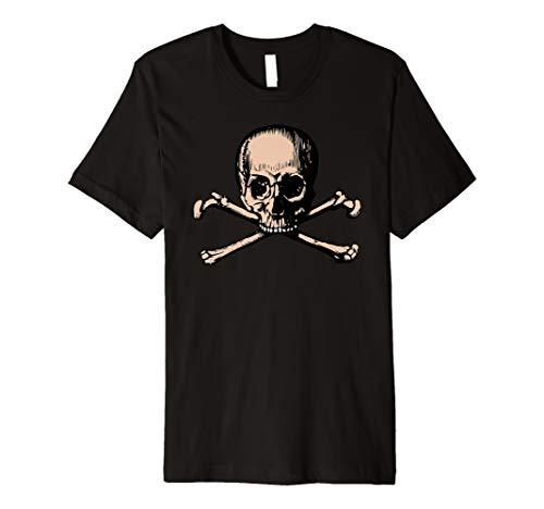 (Piratenshirt t-Shirt Totenkopf Knochen Piraten Kostüm)