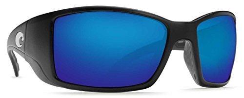 Costa Del Mar BlackFin Dunkelblau Sunglasses, Black, Blue Mirror W580by Costa del Mar