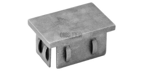 4 Stück Abdeckkappen 100  x 50mm 2-3mm Wandung Fußkappen Endkappen PE Schwarz