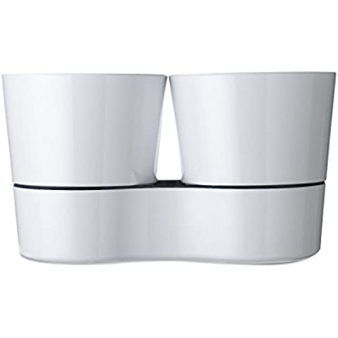 Rosti Mepal Blanco Fresco Doble Crisol Hierba Mantiene Sus Hierbas Regadas X22Cm 27Cm X 13Cm