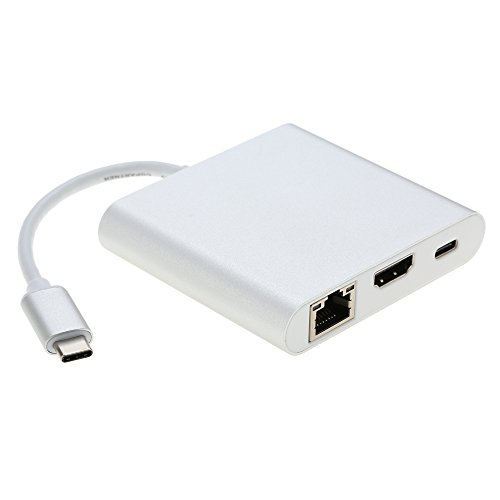 KKmoon-Alluminio-5Gbps-USB-31-di-tipo-C-a-USB-30-Tipo-A-hub-HDMI-con-RJ45-Gigabit-Ethernet-HD-Video-Convertitore-Adattatore-per-Macbook-12-USB-C-Dispositivi