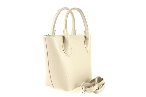 Borse a Mano Donna Tendence in Vera Pelle, Made in Italy Beige