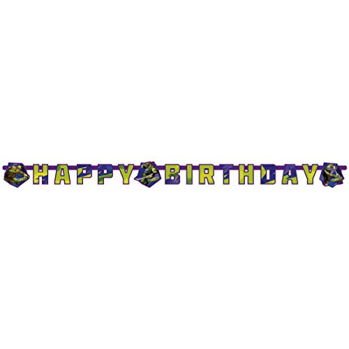 NET TOYS Partykette Teenage Mutant Ninja Turtles 180 x 15 cm Kindergeburtstag Deko Happy Birthday Girlande Party Wimpelkette Jungen Kinderparty Banner Raumdeko Geburtstag Geburtstagsgirlande Junge