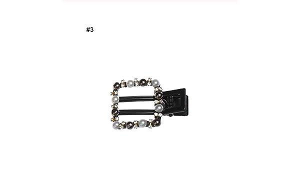 Frauen Perle Haarspange Handgemachte Kristall Strass Bogen Haarspange
