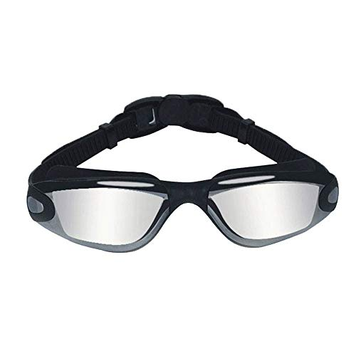 BHDYHM Occhialini da Nuoto, Senza perdite Anti-Fog Indoor Outdoor Swim Goggles con Protezione UV Mirrored Clear Lenses for Adult