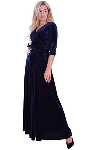 Damenkleid Langes Abendkleid Blau Partykleid Festlicher Anlass 40