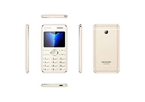 Generic KECHAODA K116 Plus Slim Card Size Phone (GOLD)