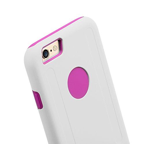 Melkco Kubalt Double Layer Case für Apple iPhone 6 weiß/schwarz weiß / rosa