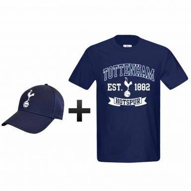 Tottenham Hotspur (Spurs) Soccer T-shirt et casquette Ensemble cadeau, mixte, grand