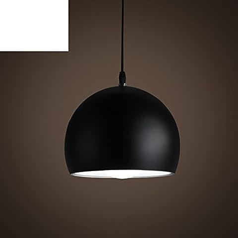 half circle pendant/Creative personality restaurant lamp single head lamp/ modern minimalist black and white dining room bedroom light lamp-A - Vita Pendente Del Cerchio