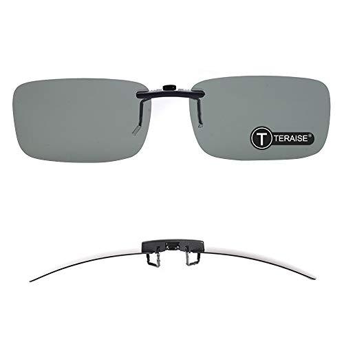 bc0314965c2 TERAISE Polarized Clip-on Sunglasses Over Prescription Glasses Anti-Glare  UV400 for Men Women