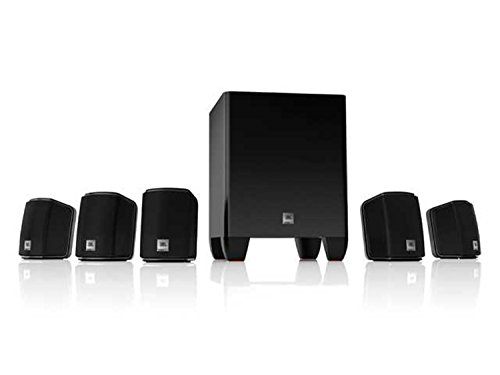 JBL Home Cinema 510 Easy Install 5.1 Home Theatre Surround Sound Speaker System Including x5 Satellite Speakers and 60 Watt Powered Subwoofer - Black