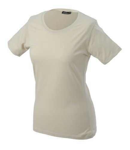 James & Nicholson Shirt Basic, Camicia Donna Beige (stone)