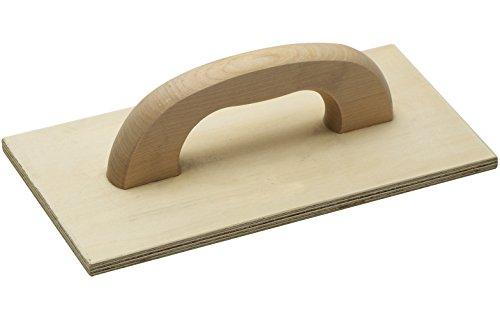 Meister Reibebrett Mehrschichtholz - 420 x 220 mm - Abachiholz / Holz-Reibebrett für Maurer und Fliesenleger / Kartätsche / Putzbrett / Glättscheibe / 4152600