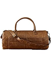 ATHLETIC DUFFLE BAG/CAMEL LEATHER DUFFLE BAG, TRAVEL BAG