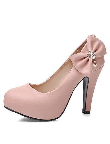 WSS 2016 Chaussures Femme-Bureau & Travail / Décontracté-Bleu / Rose / Blanc / Beige-Gros Talon-Talons / Bout Arrondi-Talons-Polyuréthane pink-us9 / eu40 / uk7 / cn41
