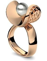 Golfschmuck Golf Schmuck Rosegold Ring Akoya Perle grau 750 + inkl. Luxusetui + Akoya Perle grau Ring Rosegold Perlenring Rosegold (Rosegold 750) - Pearl Symbiosis AM253 RS750PGPE