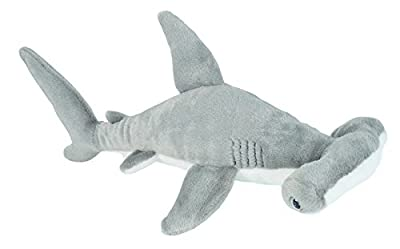 Wild Republic 22463 Hammerhead Shark Plush Soft Toy, Grey, 20 cm