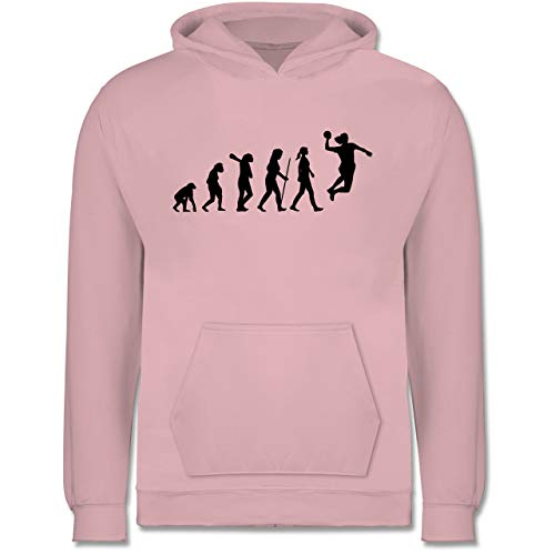 Shirtracer Evolution Kind - Handball Evolution Damen - 9-11 Jahre (140) - Hellrosa - JH001K - Kinder Hoodie