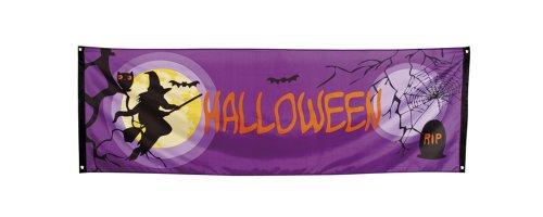 Halloween Banner 220 x 74 cm - Hexen und Vampir Party Dekoration