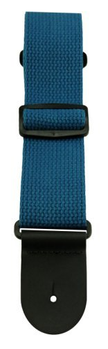 henry-heller-hcot2-blu-2-inch-woven-cotton-guitar-strap-with-top-grain-leather-ends-blue