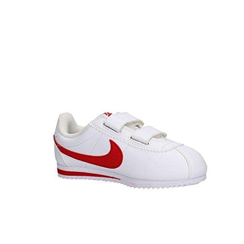 Nike White / University Red, Chaussures de Football Mixte Bébé Blanco (White / University Red)